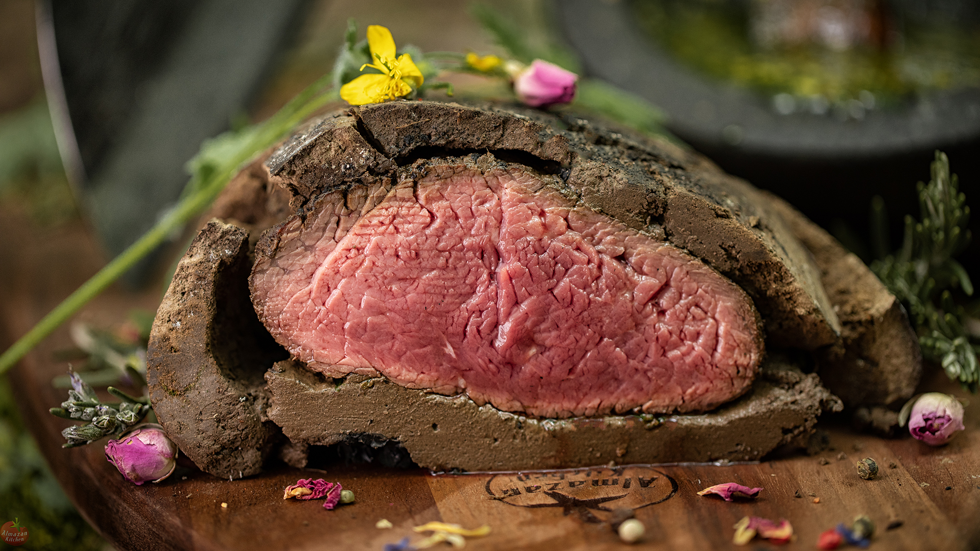 Baking Meat Packed in Clay - Most Perfect Steak?